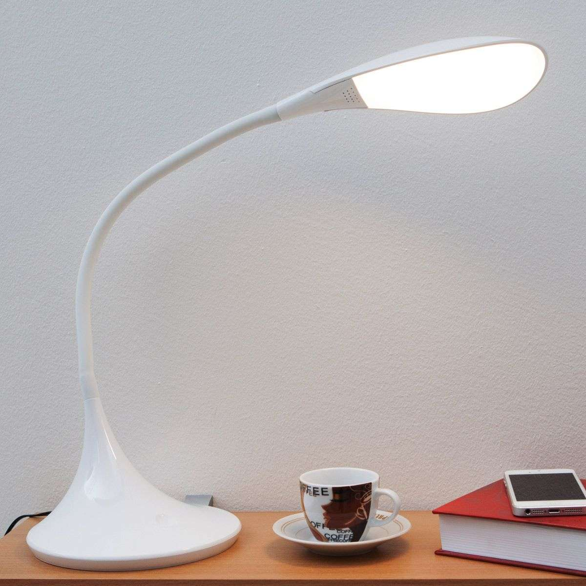 Josia, Dimmable LED Desk Lamp In White 9643002 31