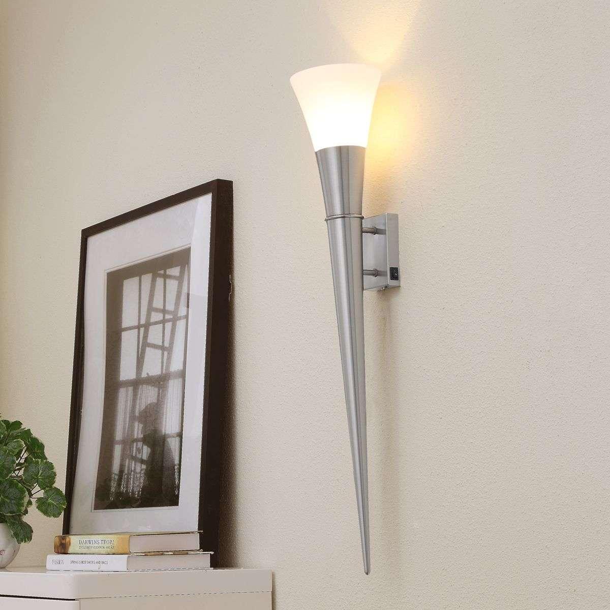 Large neel led wall torch in matt nickel lights large neel led wall torch in matt nickel 9620090 31 audiocablefo