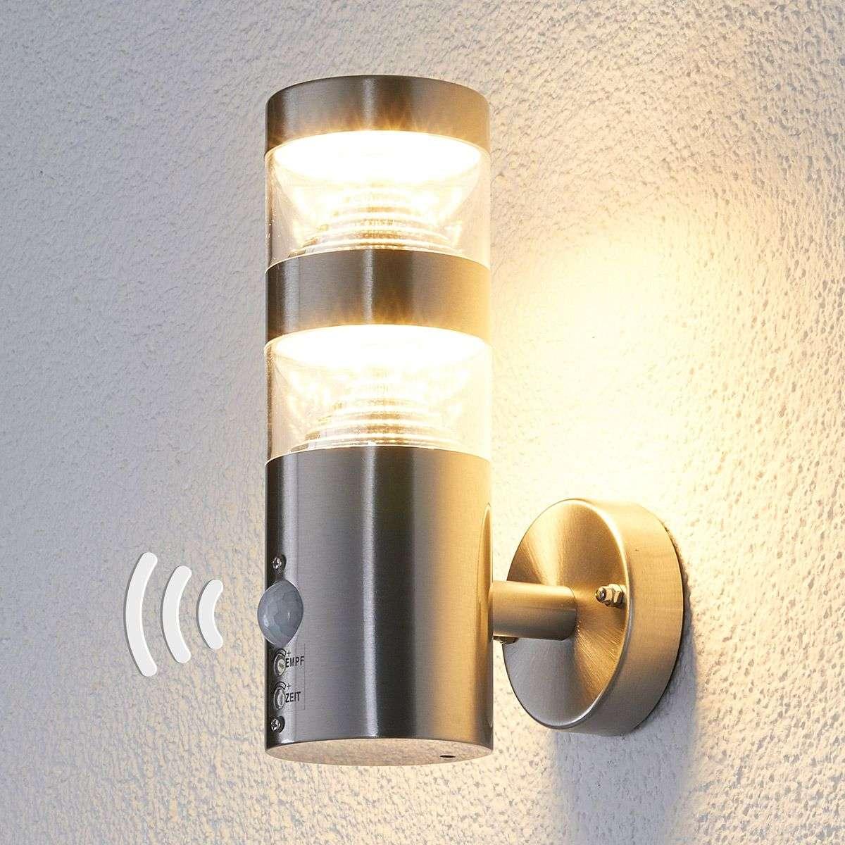 Led Outdoor Wall Light Lanea With Motion Sensor Lights Ie