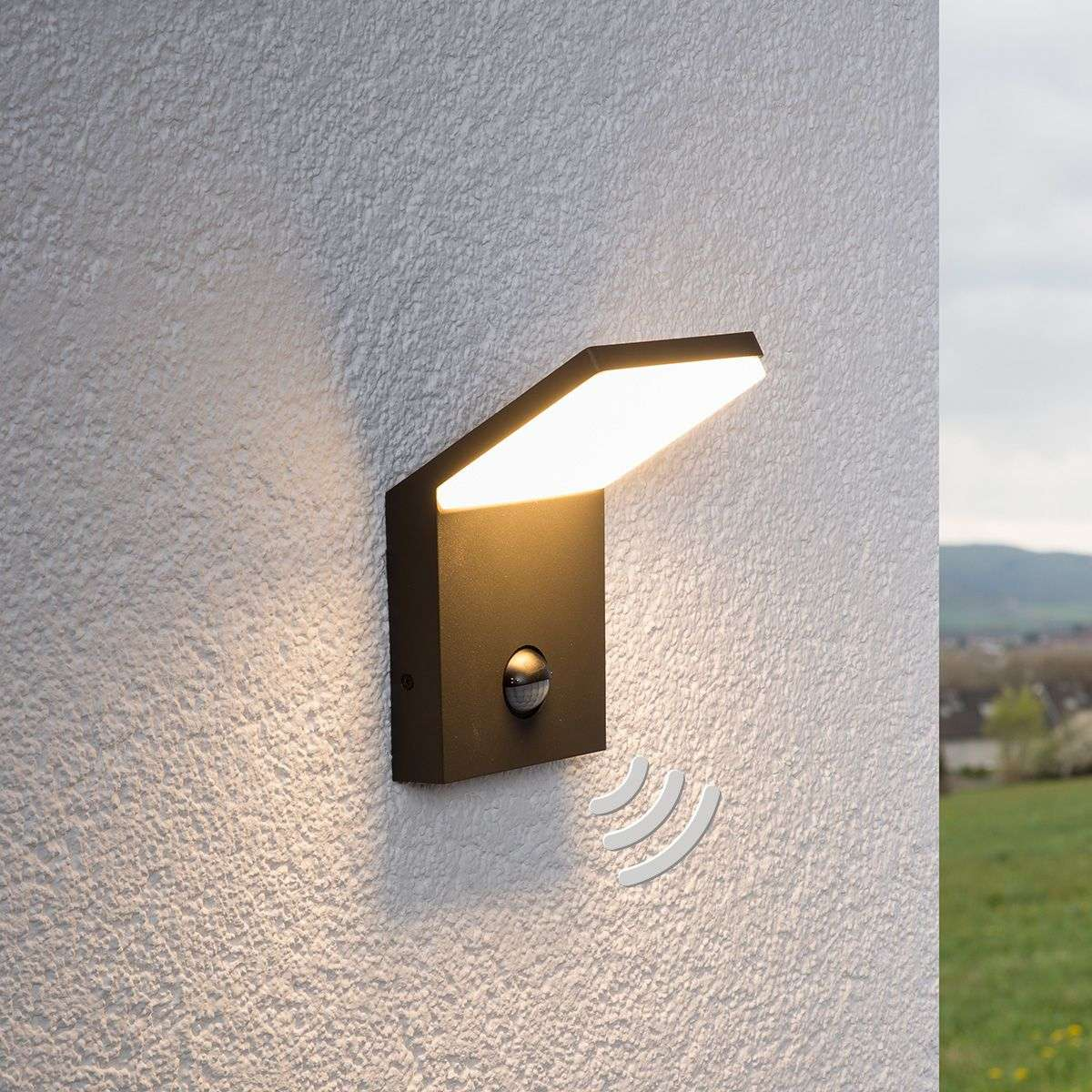 LED outdoor wall light Nevio with motion detector-9619040-31 & LED outdoor wall light Nevio with motion detector | Lights.ie