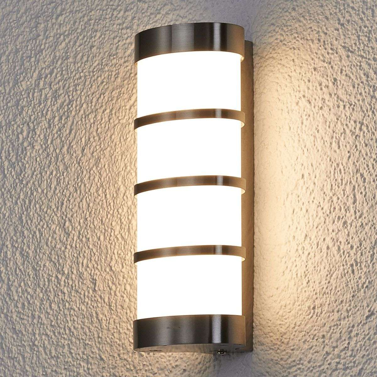 Leroy stainless led exterior wall lamp lights ie