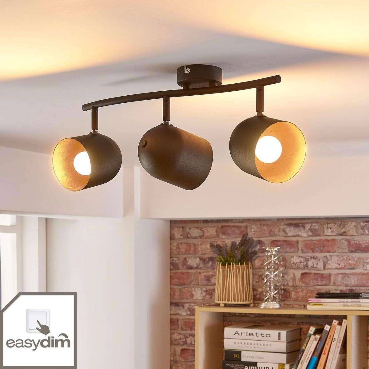 Morik 3-bulb ceiling spotlight, Easydim LEDs-9621240-32