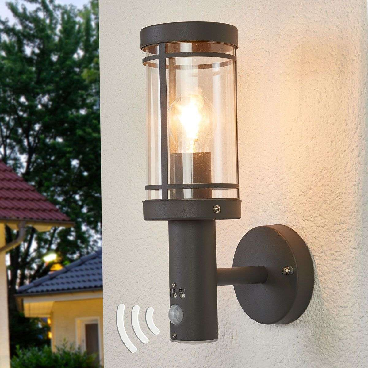 Motion Detector Wall Light Djori For Outdoors