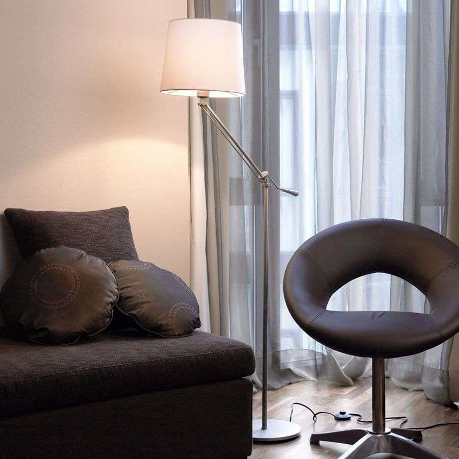Moving floor lamp Milan with cotton lampshade-6026328-32