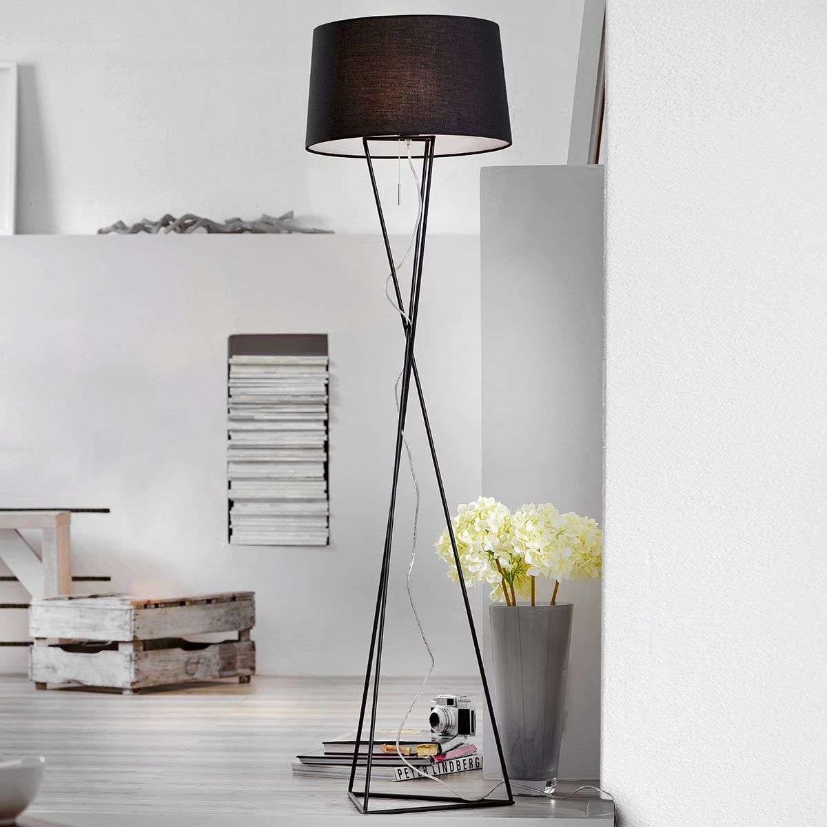 New York unusual fabric floor lamp | Lights.ie