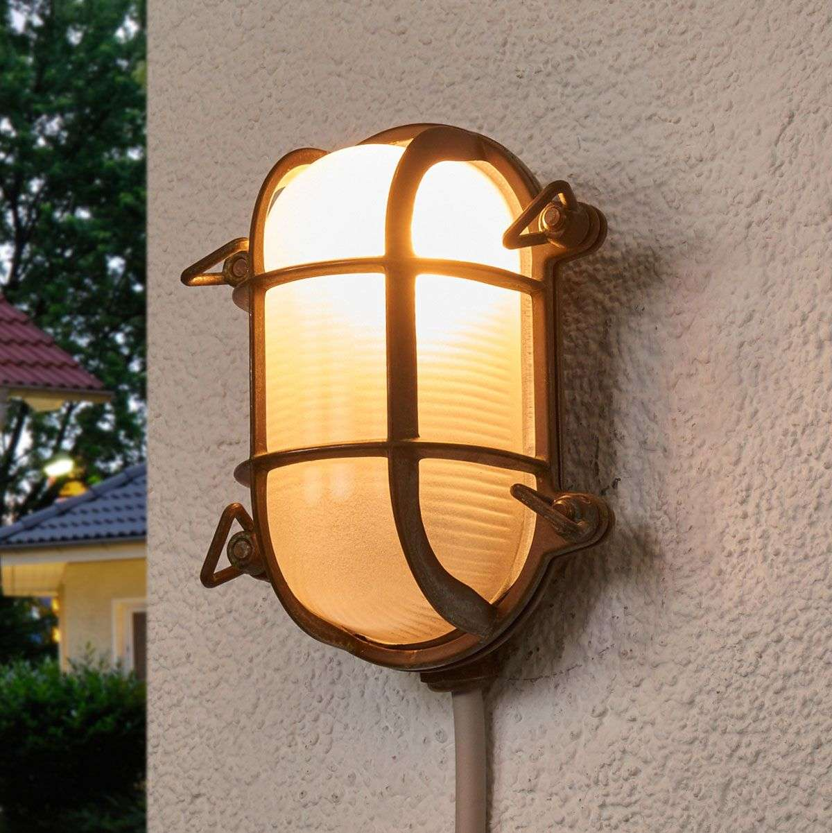 Oval outdoor wall light bengt antique brass lights oval outdoor wall light bengt antique brass 6515265 31 aloadofball Choice Image