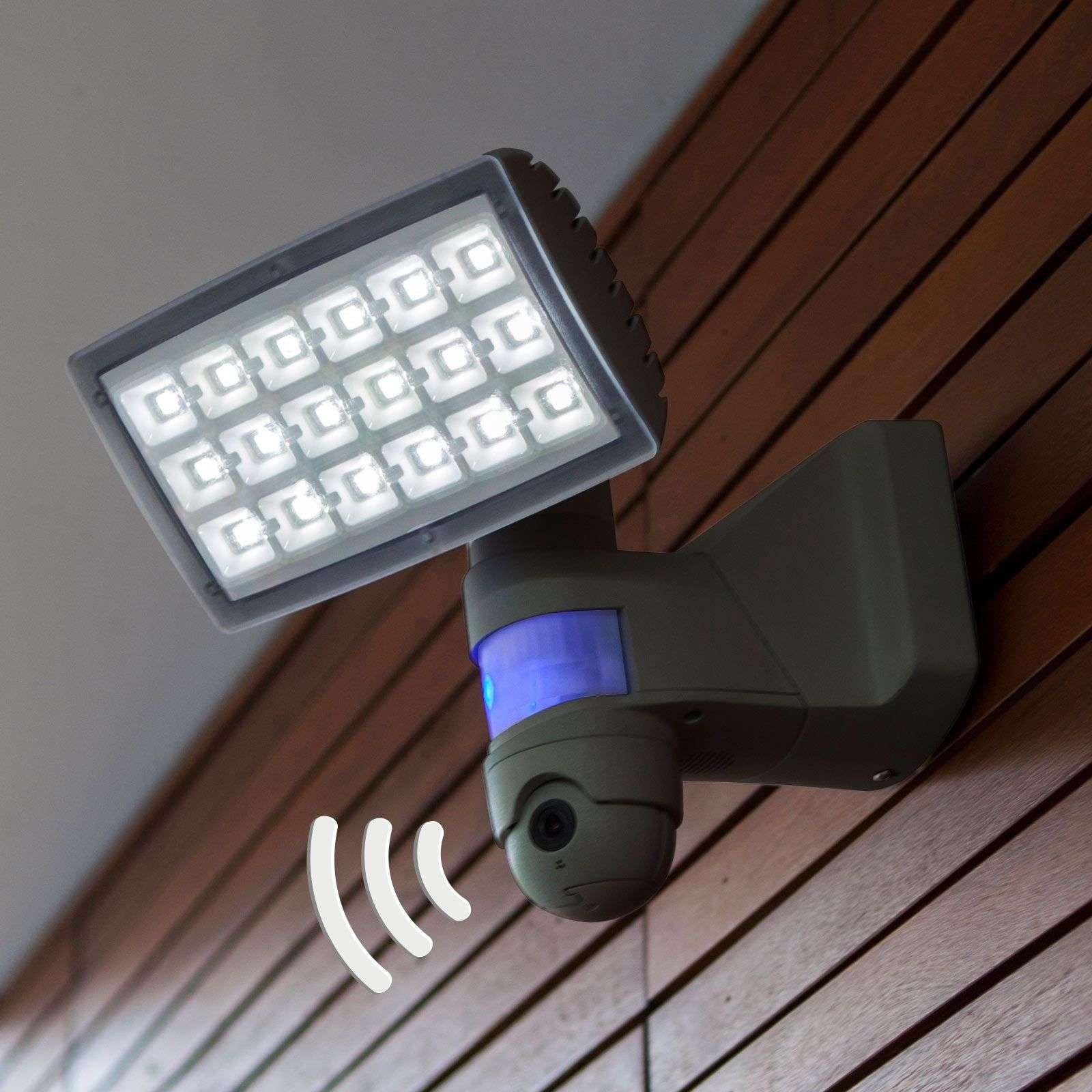 Peri Cam Led Outdoor Spotlight With Camera Sensor Lights Ie
