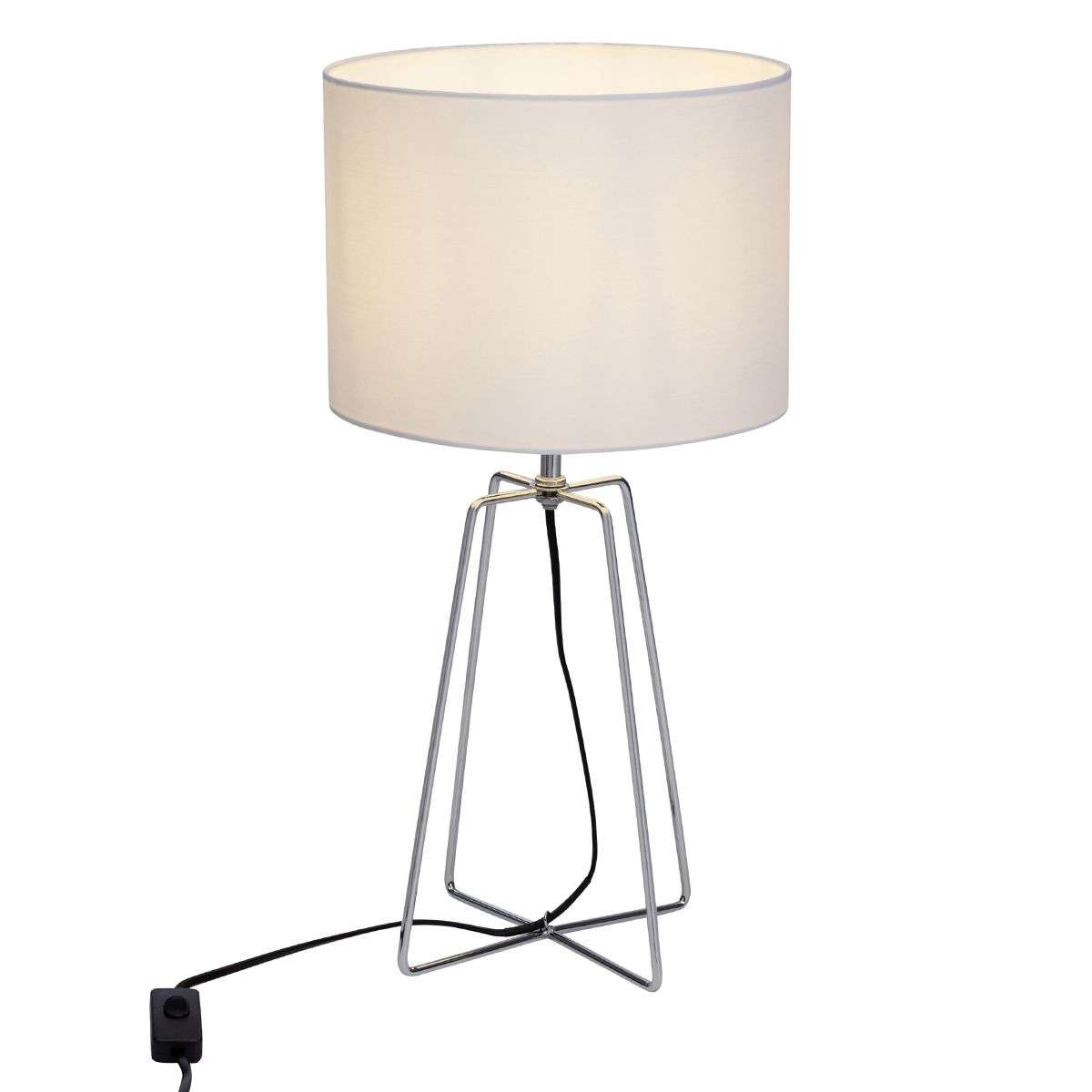 Pretty table lamp grigory white fabric lampshade lights pretty table lamp grigory white fabric lampshade 1509216 31 aloadofball Image collections