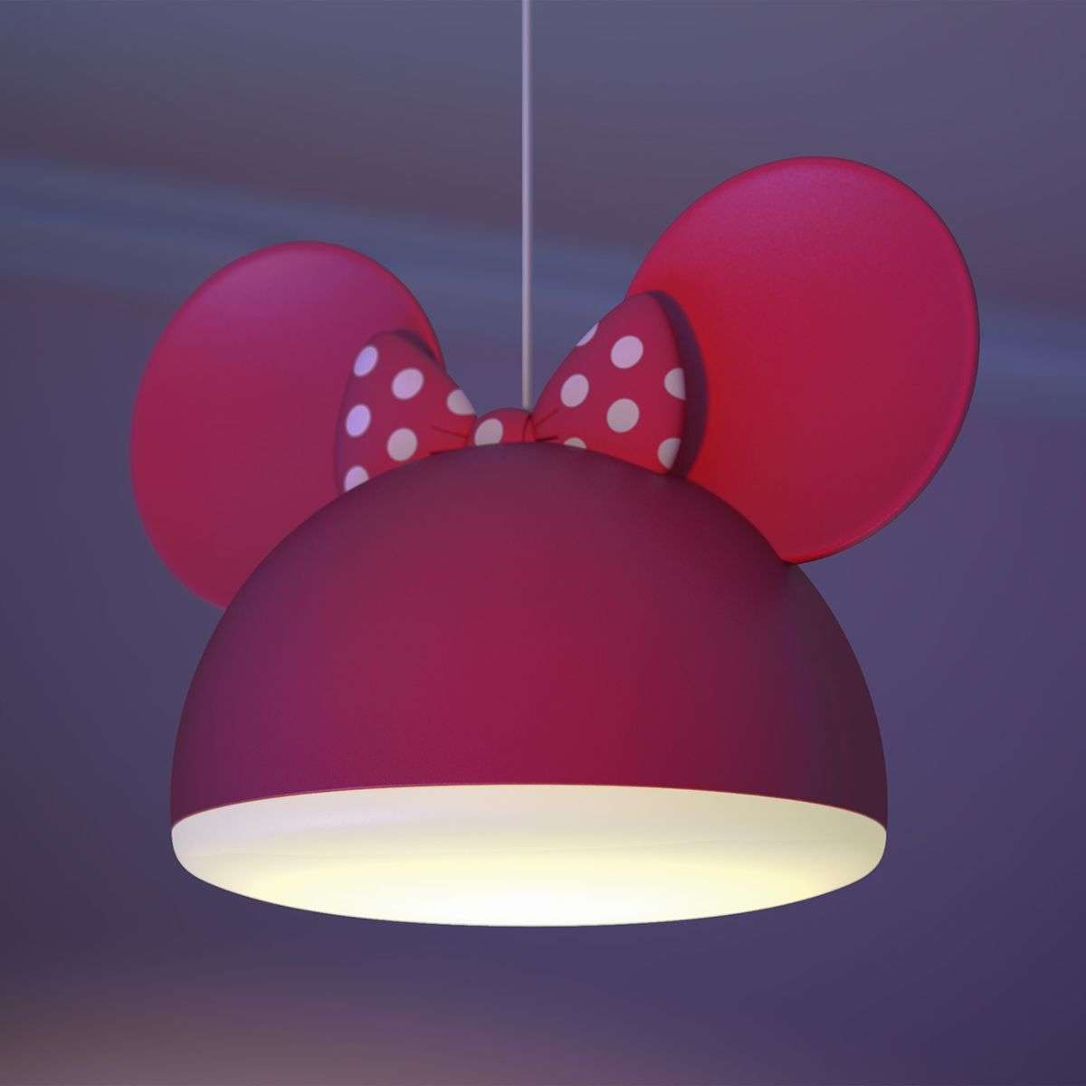 Red Minnie Mouse Pendant Light With Ears 7531528 31