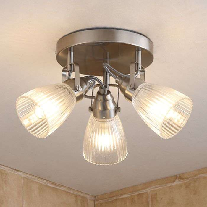 Round led bathroom ceiling light kara fluted glass 9620684 37