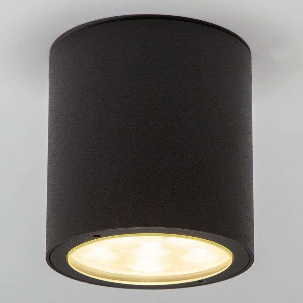 Round led outdoor ceiling spotlight meret ip54 for Led landscape spotlights