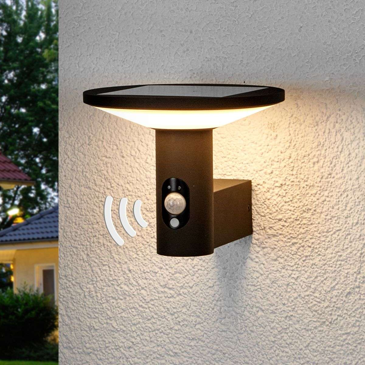 Round Led Outdoor Wall Light Jersy Solar Panel 9619066 34