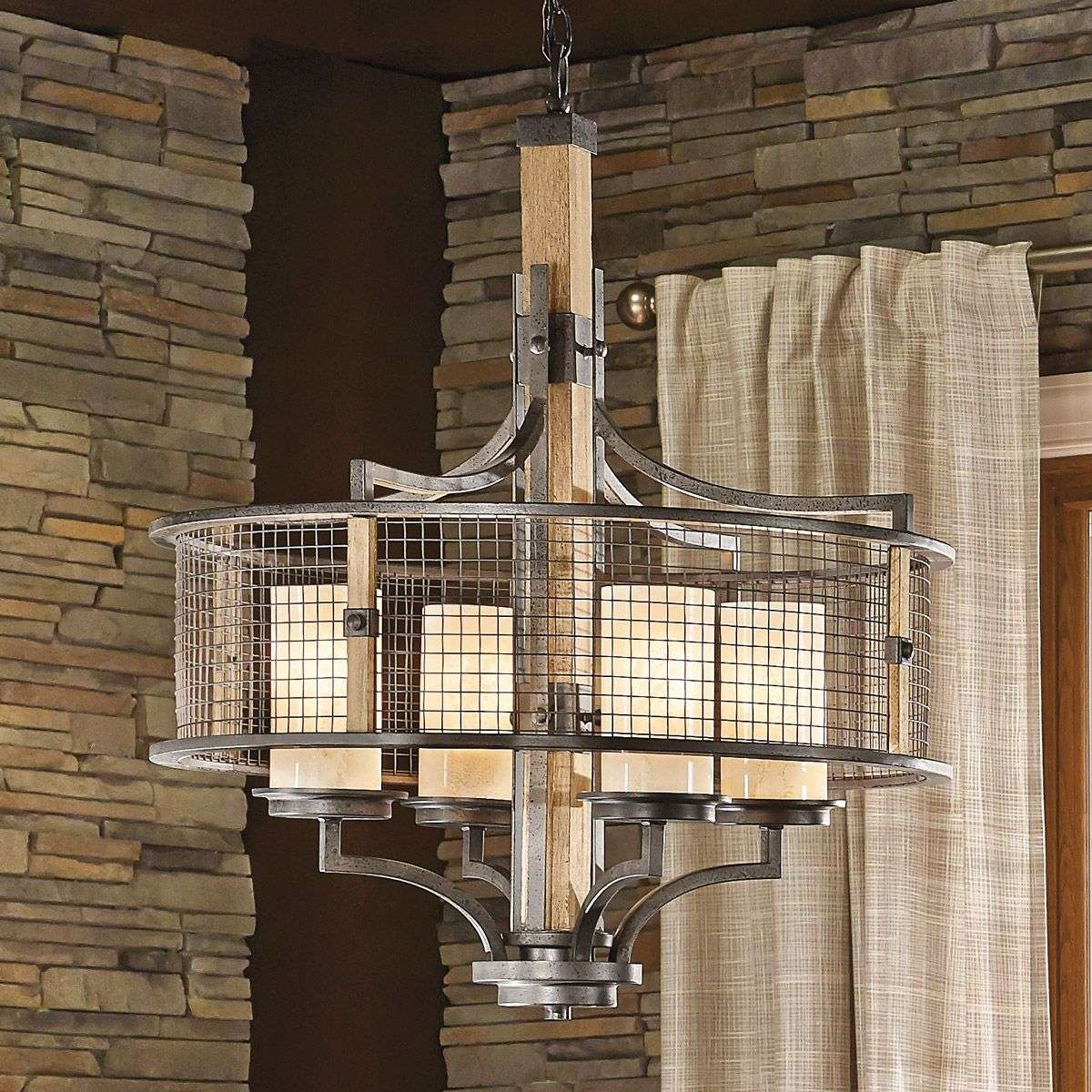 Rustic Country Style Chandelier Ahrendale 3048322 31
