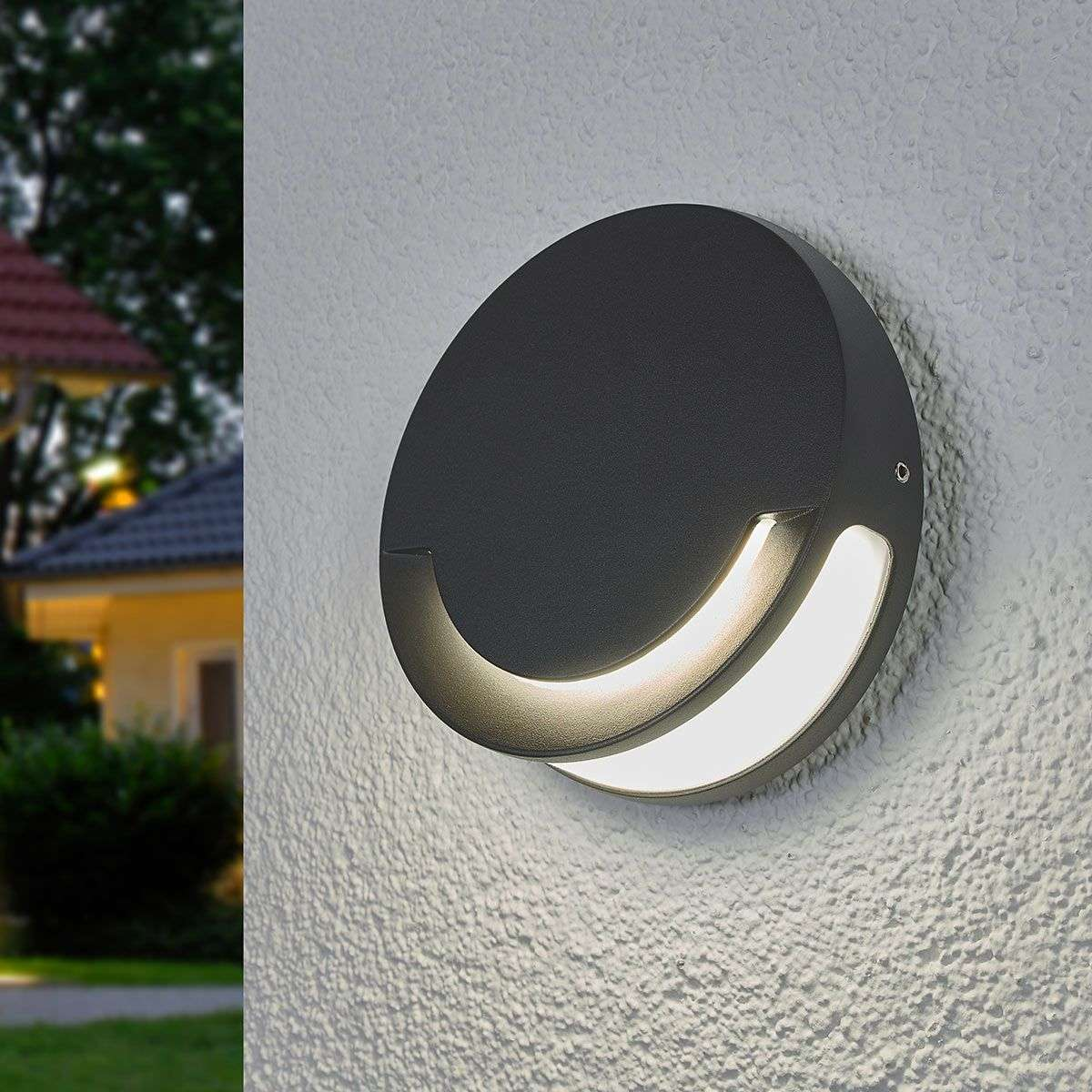 Sandwy Round Led Exterior Wall Light Ip44 3006207 31