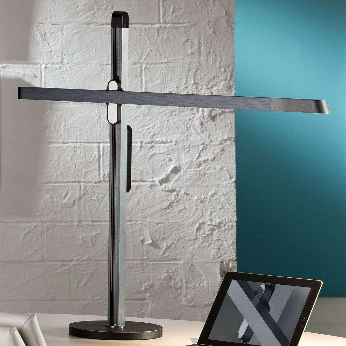 Sapphire-grey LED desk lamp Tecton   Lights.ie