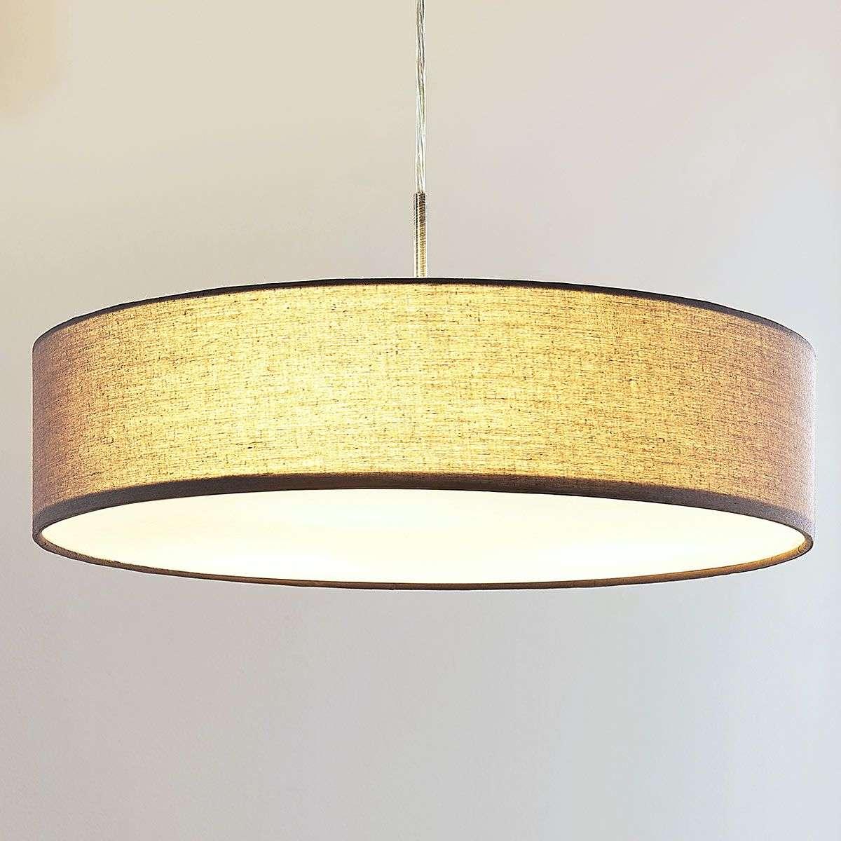 Sebatin grey fabric pendant lamp with e27 leds lights sebatin grey fabric pendant lamp with e27 leds aloadofball Images