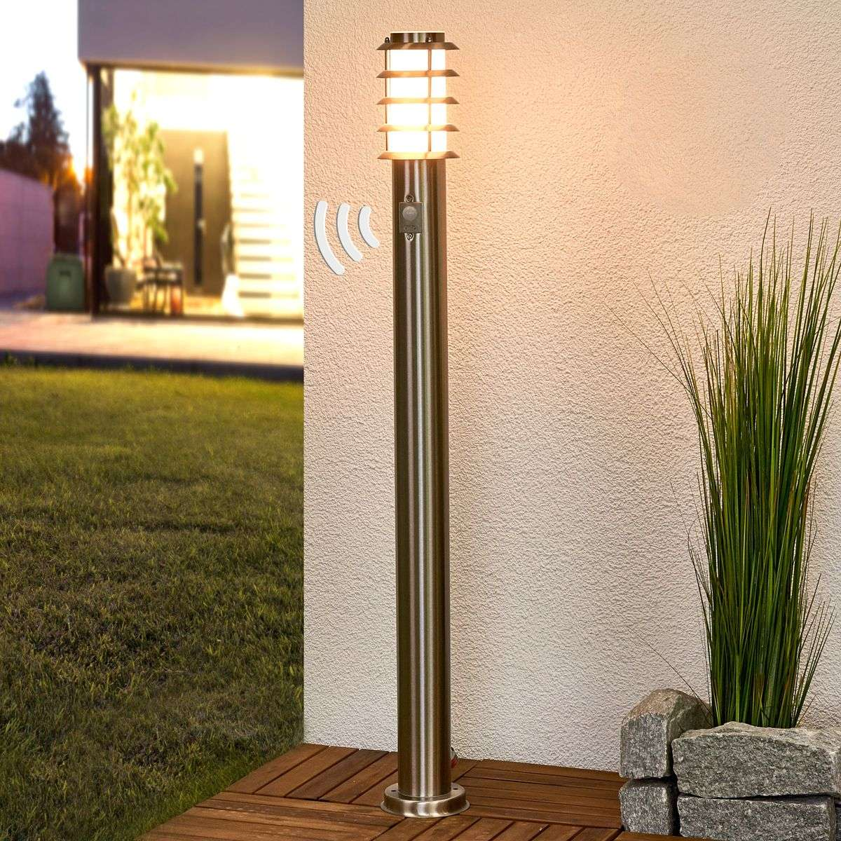 sensor path lamp selina made from stainless steel lights ie