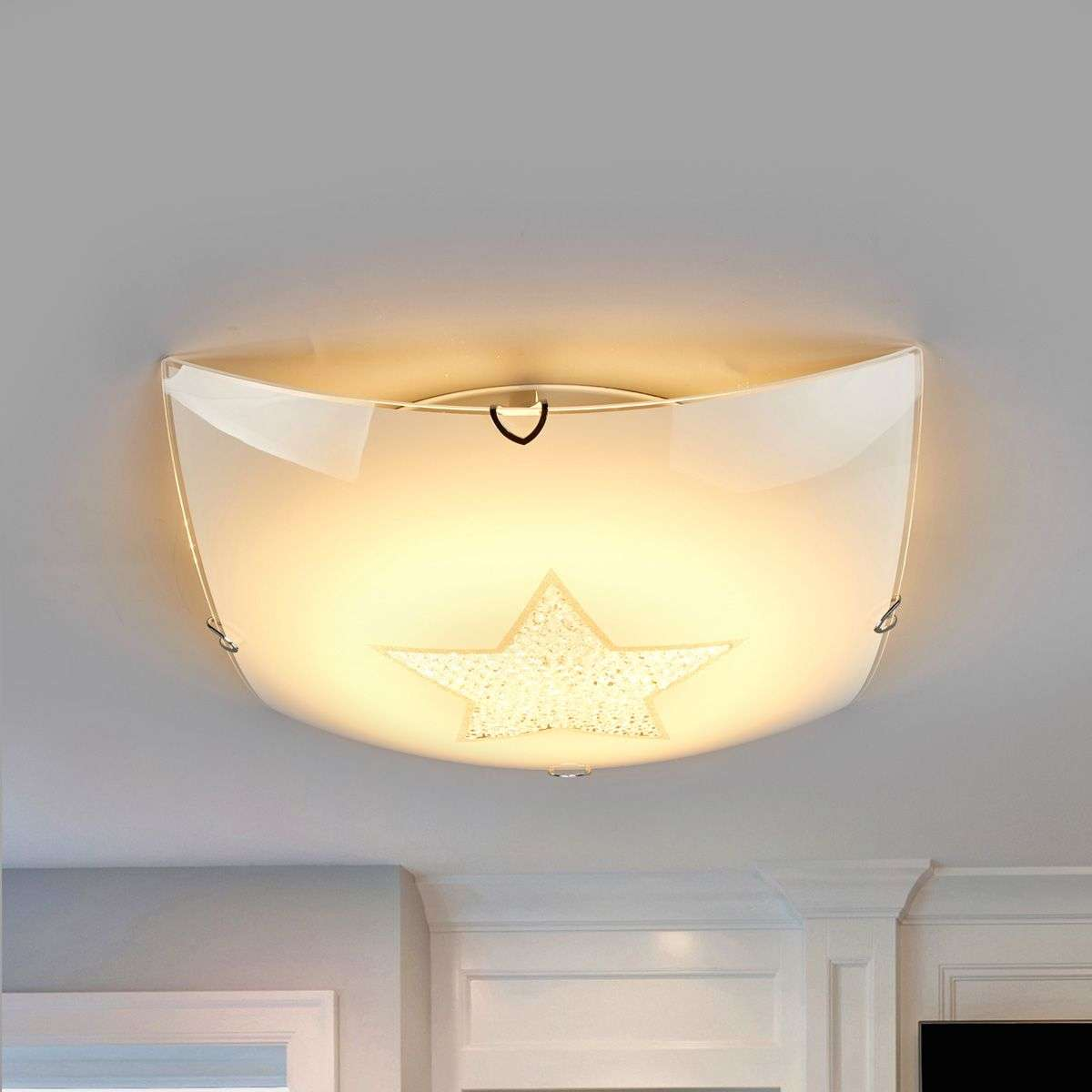Sparkling led ceiling light star with crystals lights sparkling led ceiling light star with crystals 4581145 31 aloadofball Images