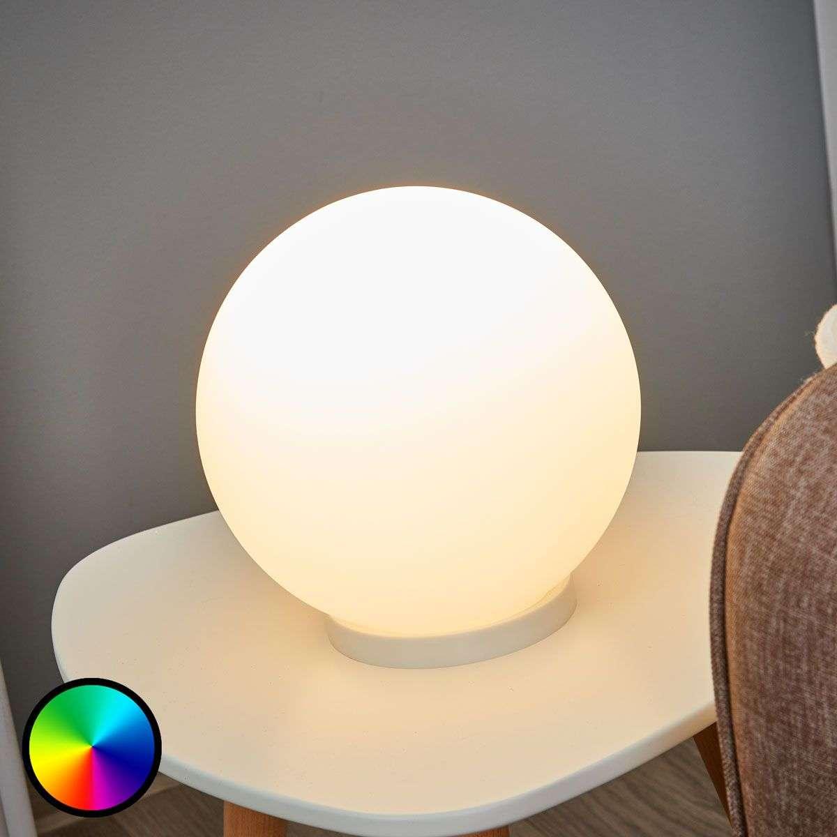 spherical lighting. Spherical Table Lamp Rondo-C LED RGBW-3031995-31 Lighting S