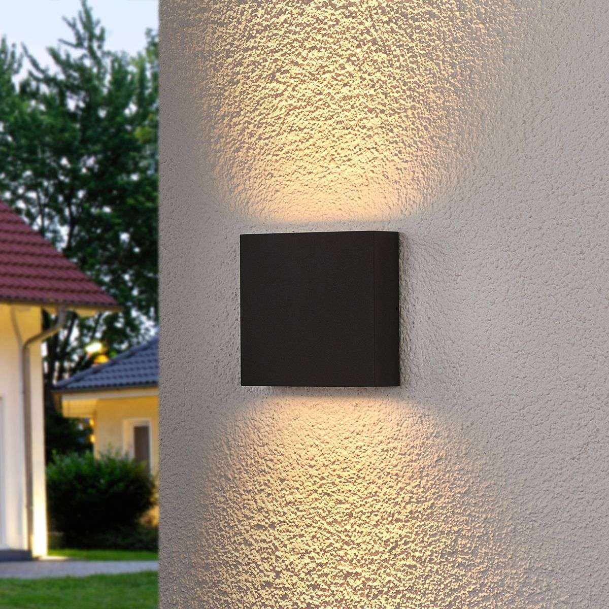 Square led outdoor wall light trixy graphite grey lights square led outdoor wall light trixy graphite grey 9619075 31 mozeypictures Choice Image