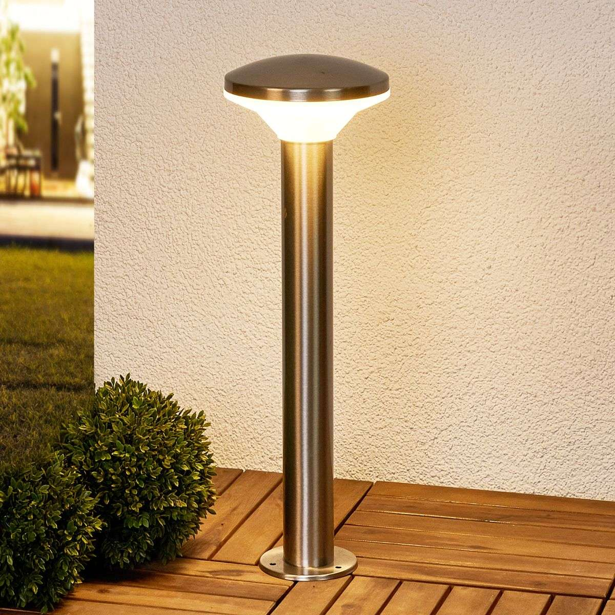 stainless steel pillar lamp jiyan with led lights ie
