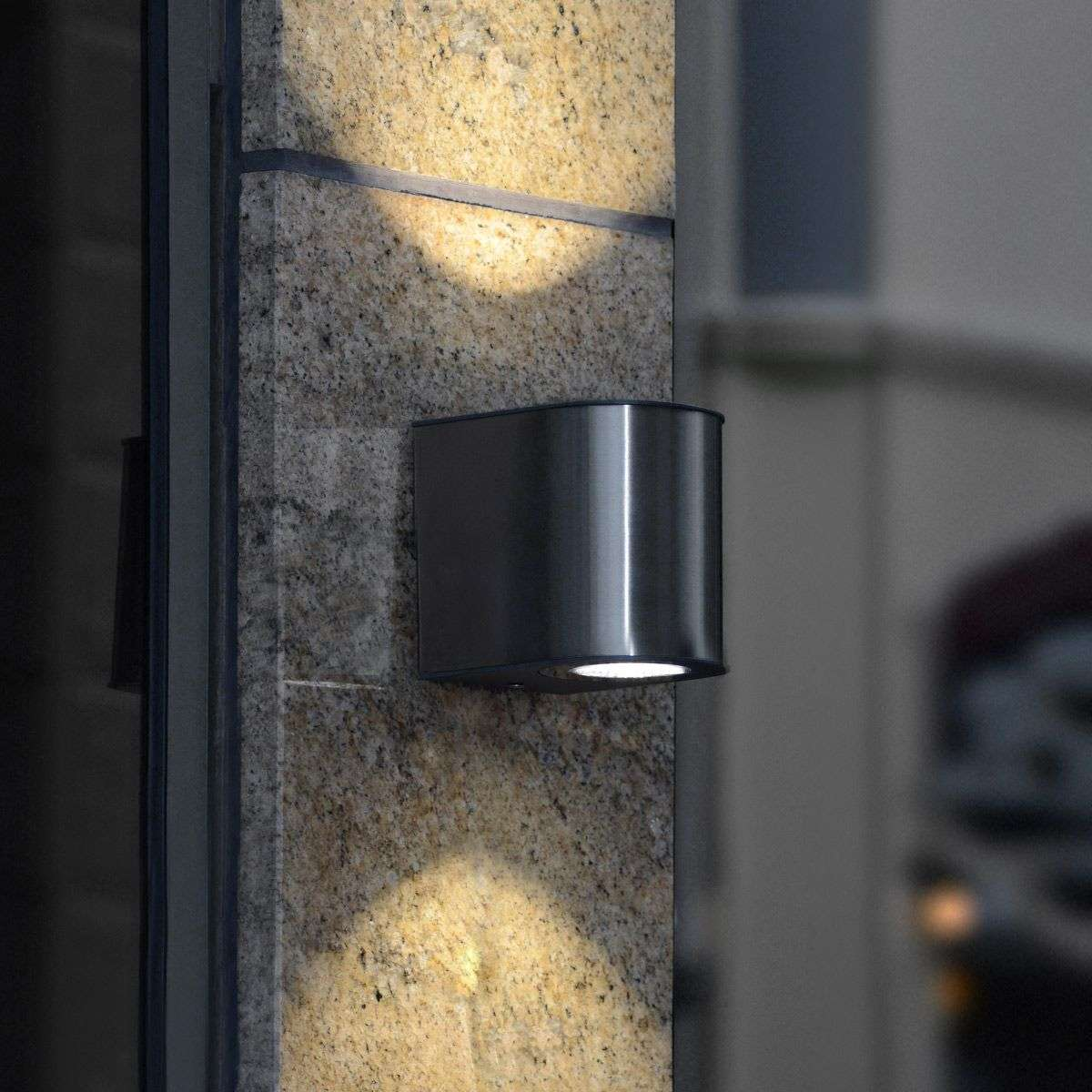 Stylish Gemini IP54 LED exterior wall light | Lights.ie