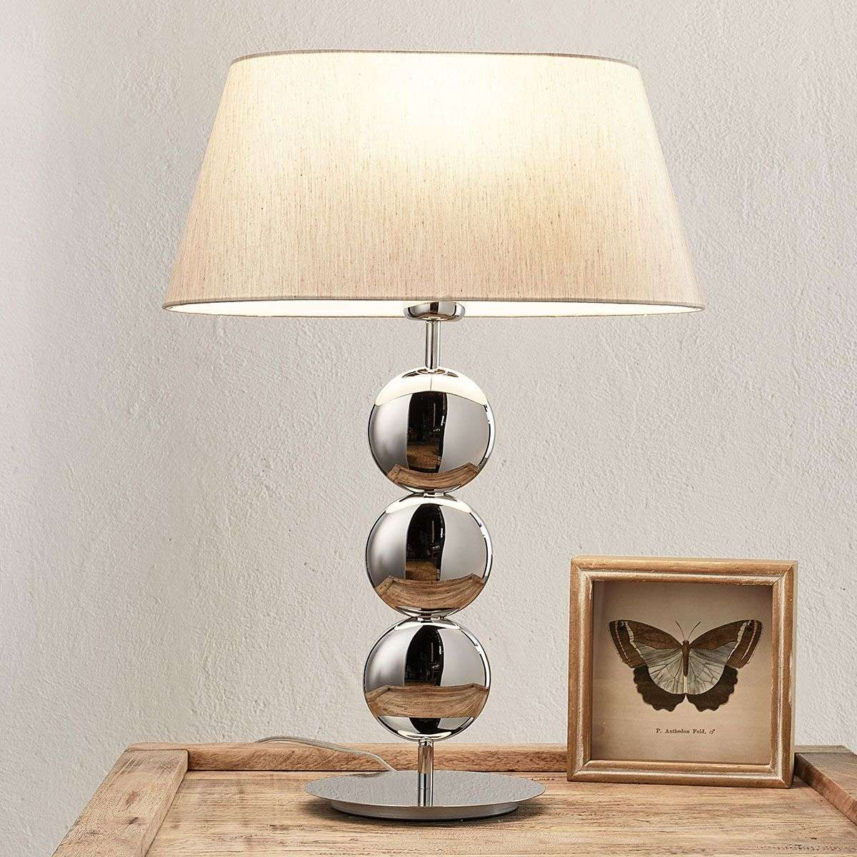 Stylish table lamp sofia with silver base lights stylish table lamp sofia with silver base 8507860 31 mozeypictures Images