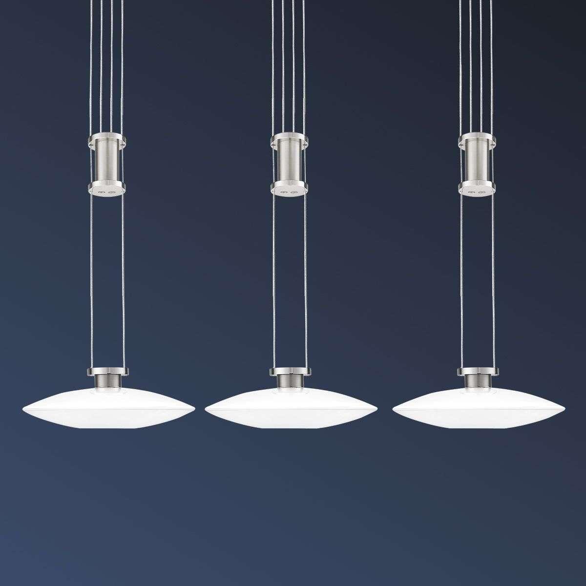 Three Bulb New Elina Led Ceiling Light Nickel 8504791 31