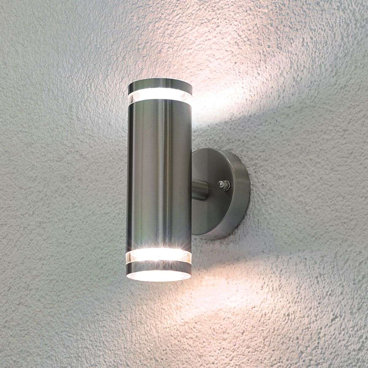 Tiberus stainless steel led outdoor wall light lights aloadofball