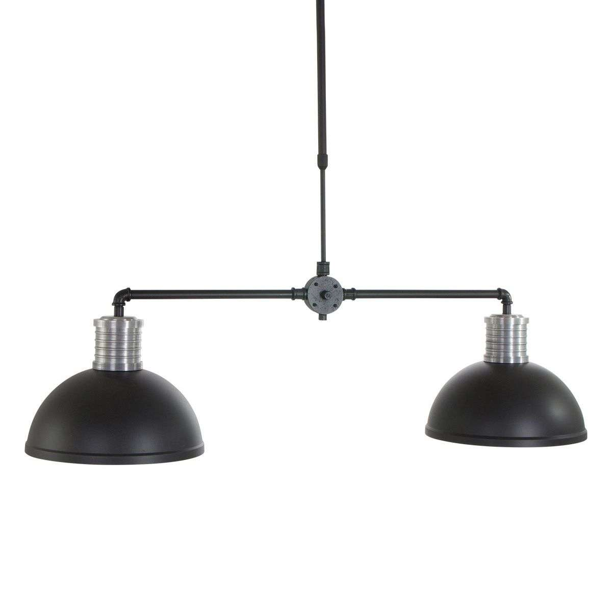 Two bulb industrial pendant light brooklyn for Industrial bulb pendant