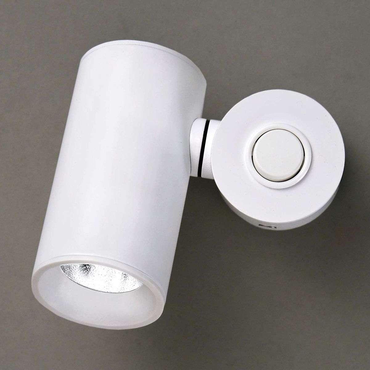 White dual-cylinder LED wall light Tub | Lights.ie