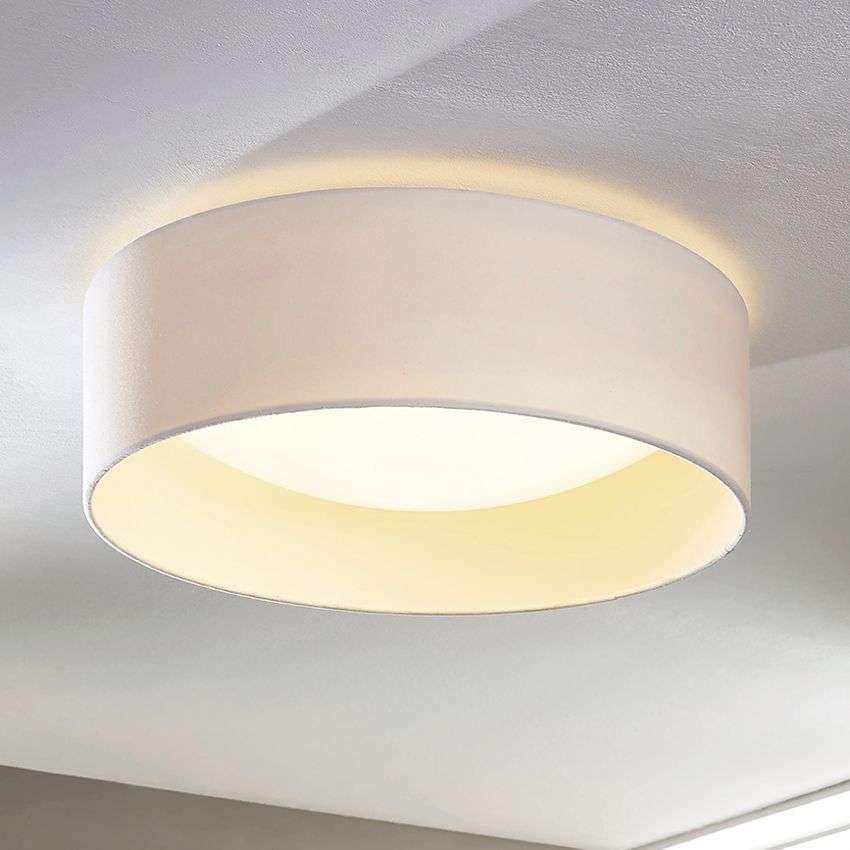 White fabric ceiling lamp franka with leds lights white fabric ceiling lamp franka with leds 9620720 327 aloadofball Choice Image