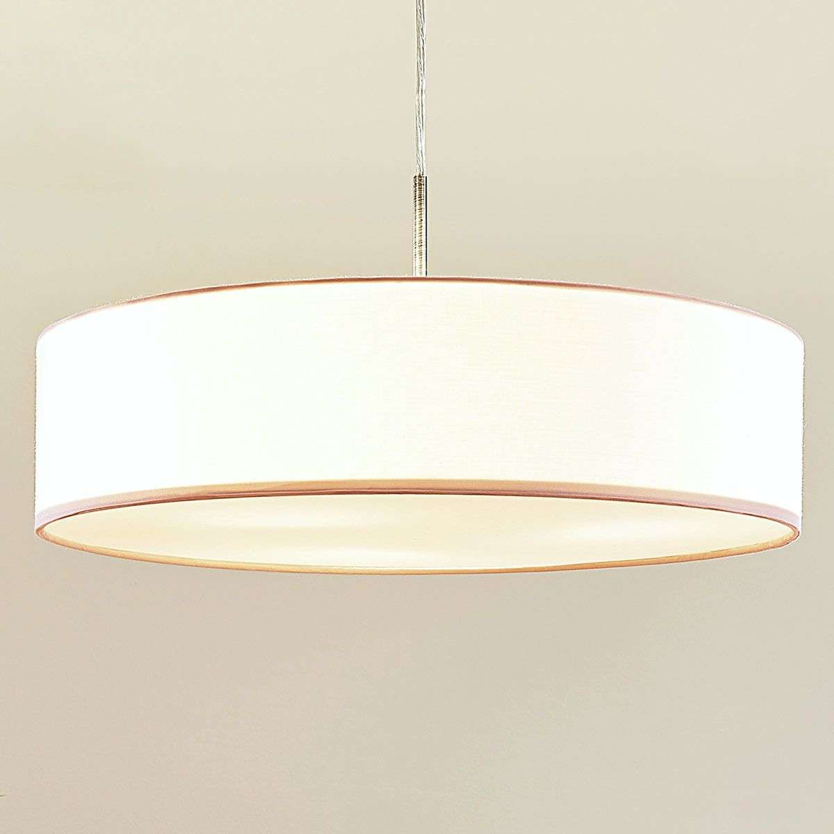 White sebatin led fabric pendant lamp lights white sebatin led fabric pendant lamp 9620321 32 mozeypictures Images